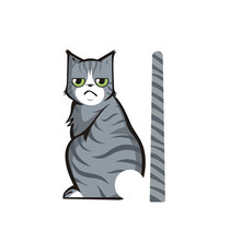 Car tail Rear windshield window wipers sticker reflective Cat The can be shaken with the wiper