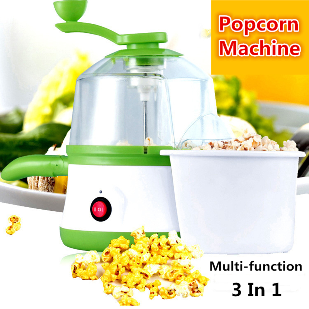 350W Multifunction Household Mini popcorn machine Popper Maker Small Tabletop Steamed egg Home Party Snack