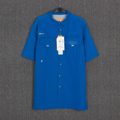 2016 nova Promoção Da Marca Homens camisa-manga Curta secagem rápida roupas masculinas camisas casual camisa-secagem rápida anti-uv plus size M-/XXL
