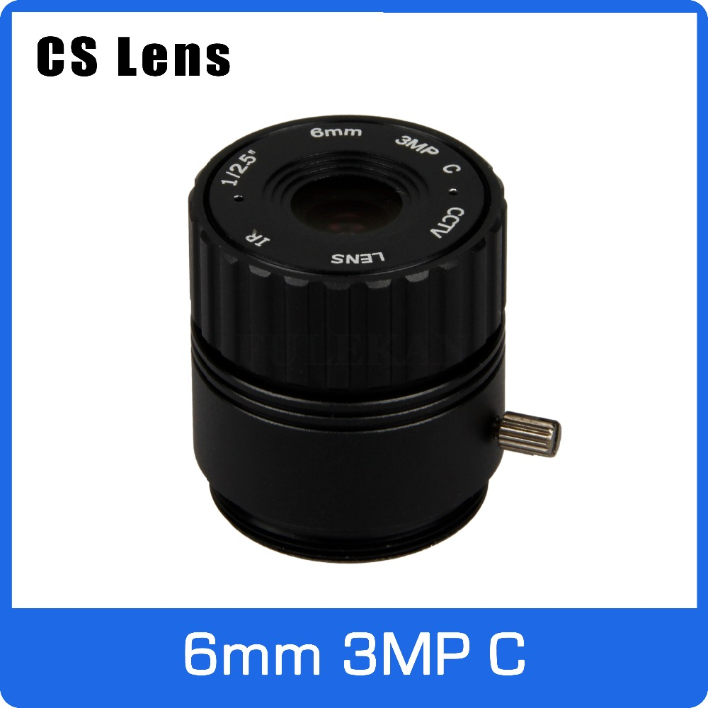3Megapixel 6mm CS Mount Fixed 1/2.5 inch CCTV Lens For HD 1080P AHD IP Camera Box Camera Explosion Proof Camera Free Shipping 8mm 12mm 16mm cctv ir cs metal lens for cctv video cameras support cs mount 1 3 format f1 2 fixed iris manual focus
