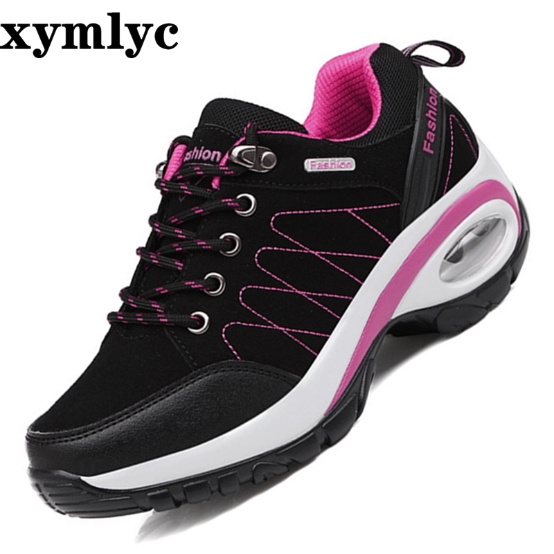 2019 spring New Arrival Lace Up casual flats Woman Shoes Rubber Wedges walking Shoes Fashion Shoes Woman Plus size 35 40 in Women 39 s Flats from Shoes