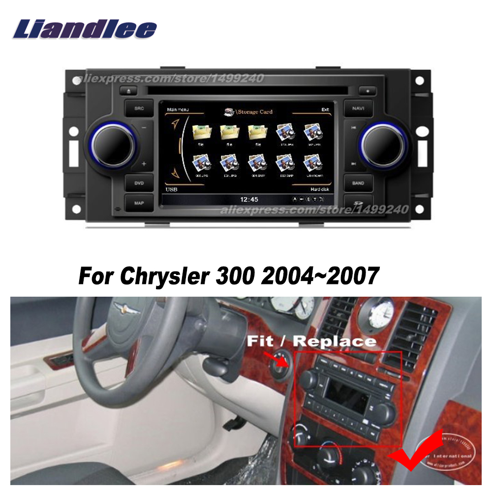 Liandlee For Chrysler 300 2004~2007 Car Android Radio CD DVD Player GPS NAVI Maps HD Touch Stereo Media TV Multimedia|navigation system|gps navigation system|gps navigation - title=