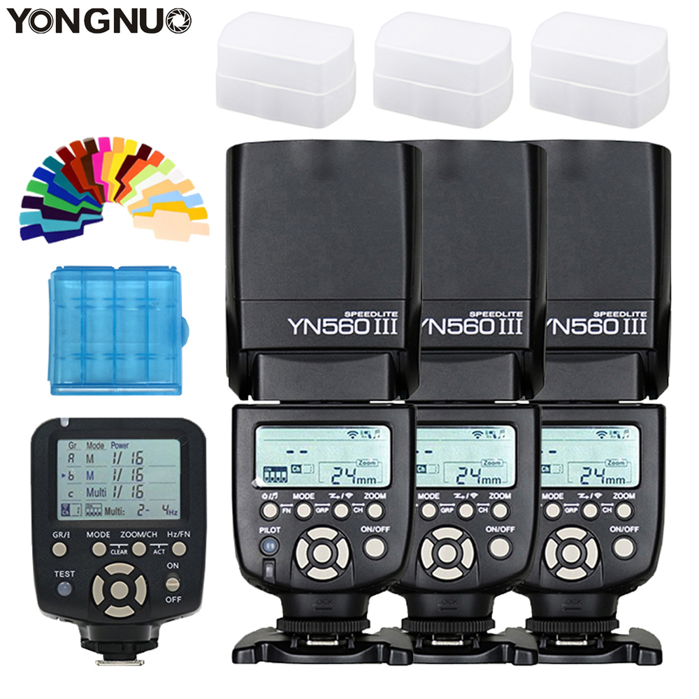 YONGNUO YN560 III YN560III YN 560III YN560 III Вспышка Speedlite Speedlight x3 + YN 560TX II контроллер вспышки для Canon Nikon