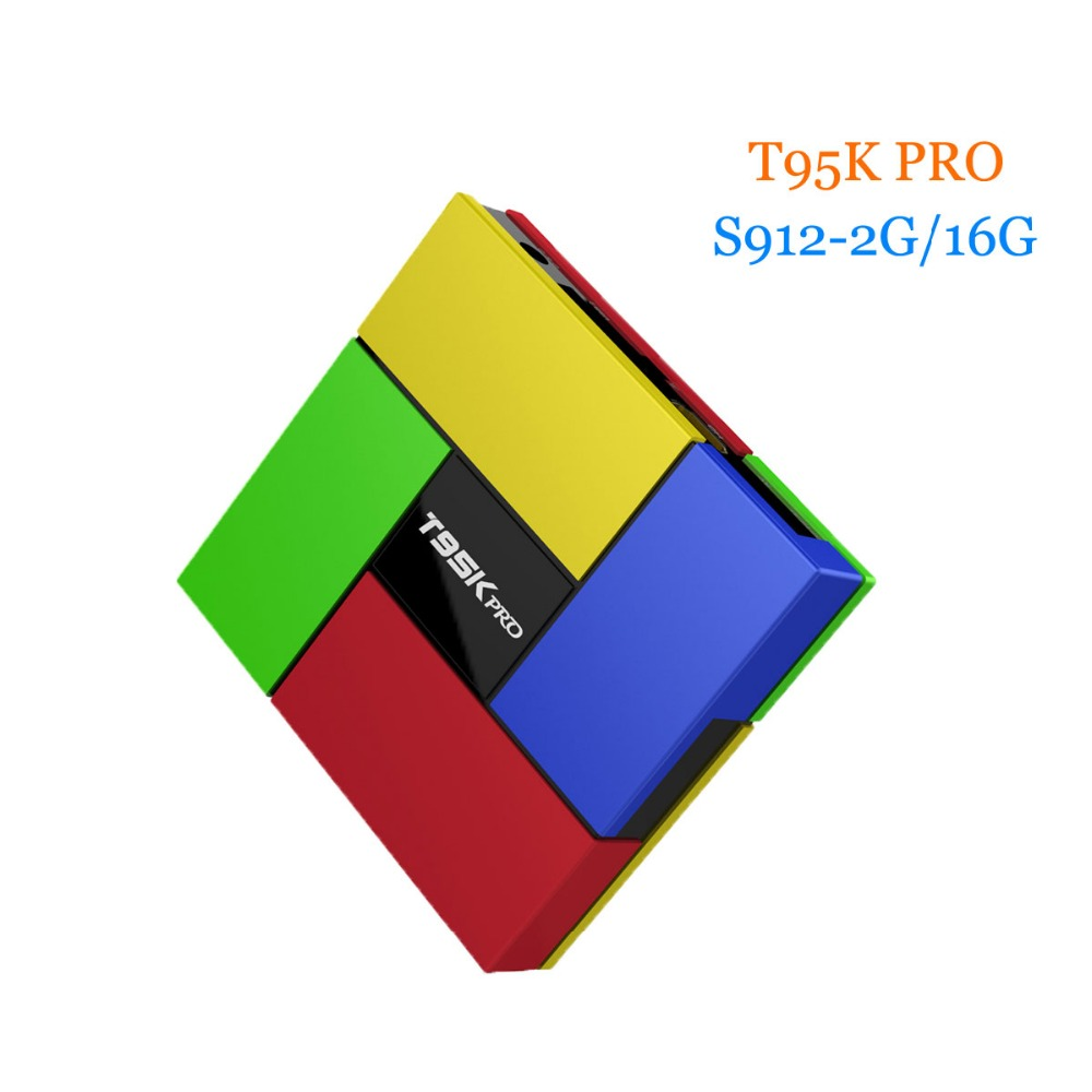 [WeChip] T95K PRO 2GB 16GB Amlogic S912 Android TV box Octa Core cortex-A53 KODI 16.1 Dual Band WIFI BT4.0 HDR HD Media Player android tv box w9 2gb 16gb android 5 1 amlogic s905 quad core kodi pre installed wifi aluminum 3d media player