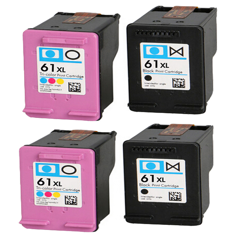 4 Compatible hp61 61XL Black + Colour Ink Cartridge for HP Deskjet 1000 1055 2050 2540 2542 30003050 1050 Envy 4500 4502 5530