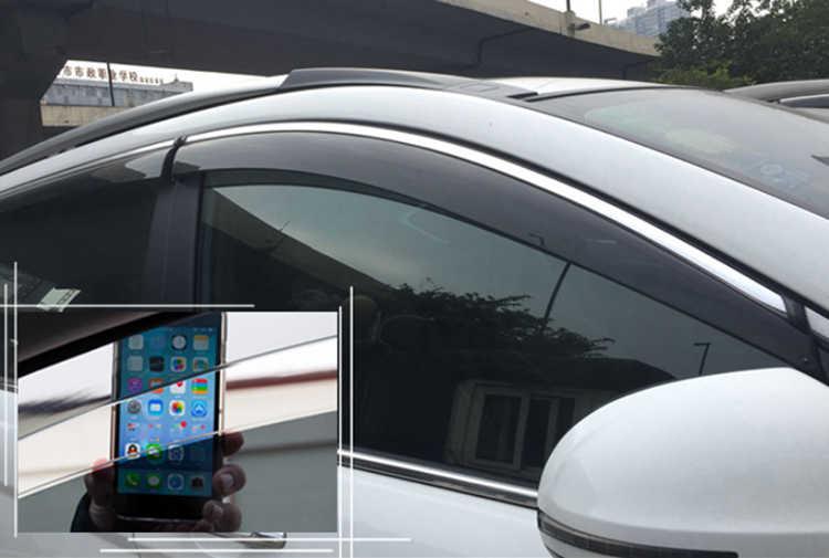 สำหรับ Toyota Alphard Vellfire 2015 2016 2017 2018 พลาสติกด้านนอก Visor Vent Shades หน้าต่าง Sun Rain Guard Deflector 4pcs