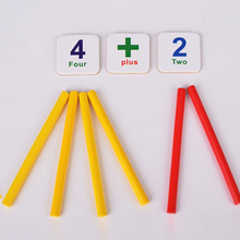 Kids Learning Tool Toy Wooden Sticks Fridge Magnet Mathematics Game Counting Educational Learning Tool Kids wooden Toys