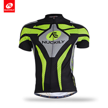 Nuckily  summer short sleeve cycling jersey with custom design for men MA005