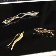 Vintage Gold Plated Leaf Earrings