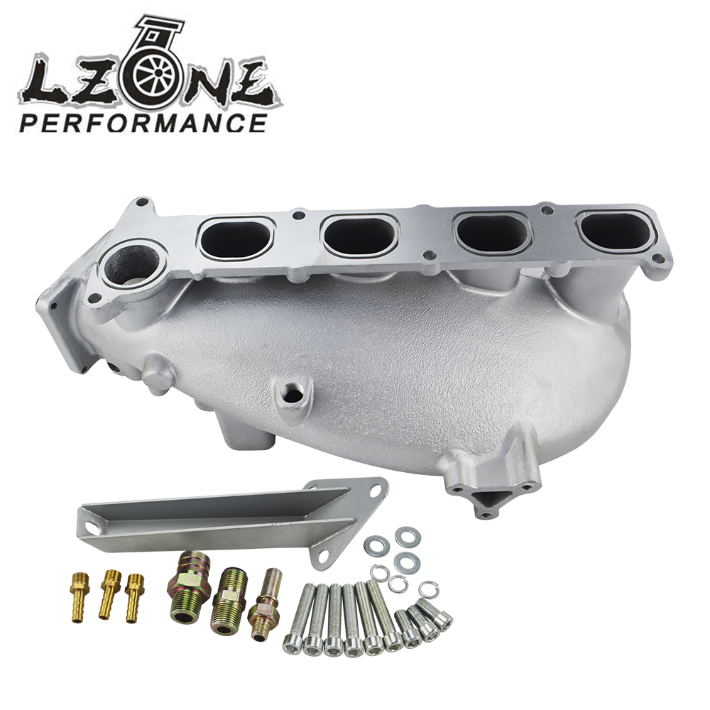 LZONE RACING - NEW INTAKE MANIFOLD FOR MAZDA 3 MZR FOR FORD FOCUS DURATEC 2.0/2.3 ENGINE CAST ALUMINUM INTAKE MANIFOLD JR-IM49SL gorst car automobiles intake exhaust pressure sensor for ford focus galaxy jaguar xj land rover mazda 3 volvo 3m5a 5l200 ab