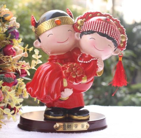 0f29d4df1 الحلو في ذراعه الصينية التقليدية نمط كعكة الزفاف توبر العروس والعريس هدايا  الزفاف مع الشحن المجاني