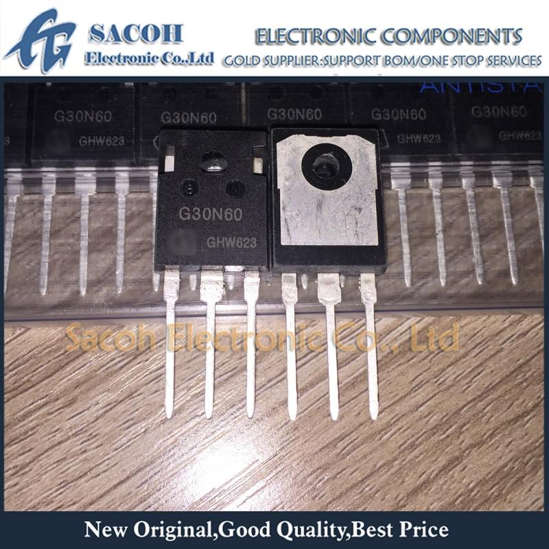 Free Shipping 10Pcs SGW30N60 SGW30N60HS G30N60HS G30N60 TO-247 30A 600V Power IGBT transistor
