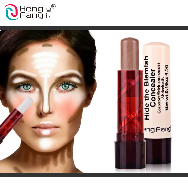 hengfang brand Oil control Foundation Concealer highlight Stick 3d Shadow Contour Pencil Face Concealing Blemish Cover
