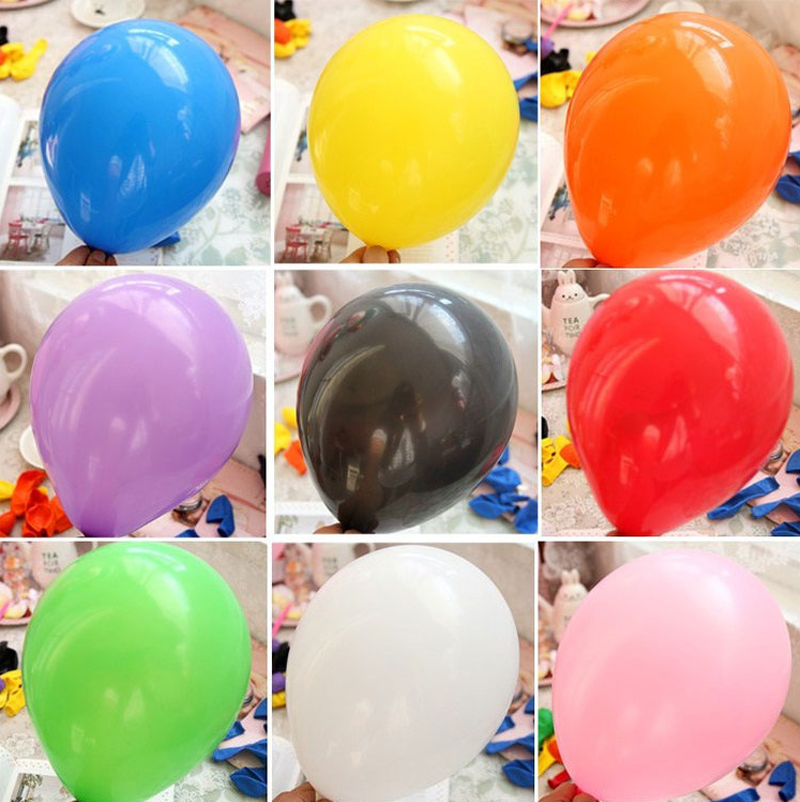 10 Inch Thick Latex Balloon Advertising Balloon for Wedding Decoration Birthday Party Festival Celebration