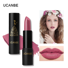 UCANBE Velvet Matte Moisturizing Rouge Lipstick 8 Color Nourish Creamy Lip Batom Makeup Nude Silky Long Lasting Rich Color Lips