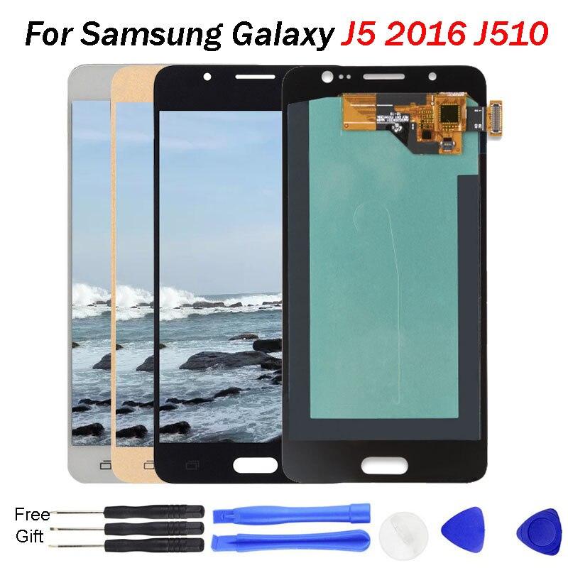 Affichage J5 Pro pour samsung j5 2016 affichage J510 J510F J5108 J510FN OLED écran numériseur assemblée pour samsung j510 oled J510 LCD