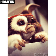 "HOMFUN Full Square/Round Drill 5D DIY Diamond Painting ""Big ear monkey"" Embroidery Cross Stitch 5D Home Decor Gift A01565(China)"