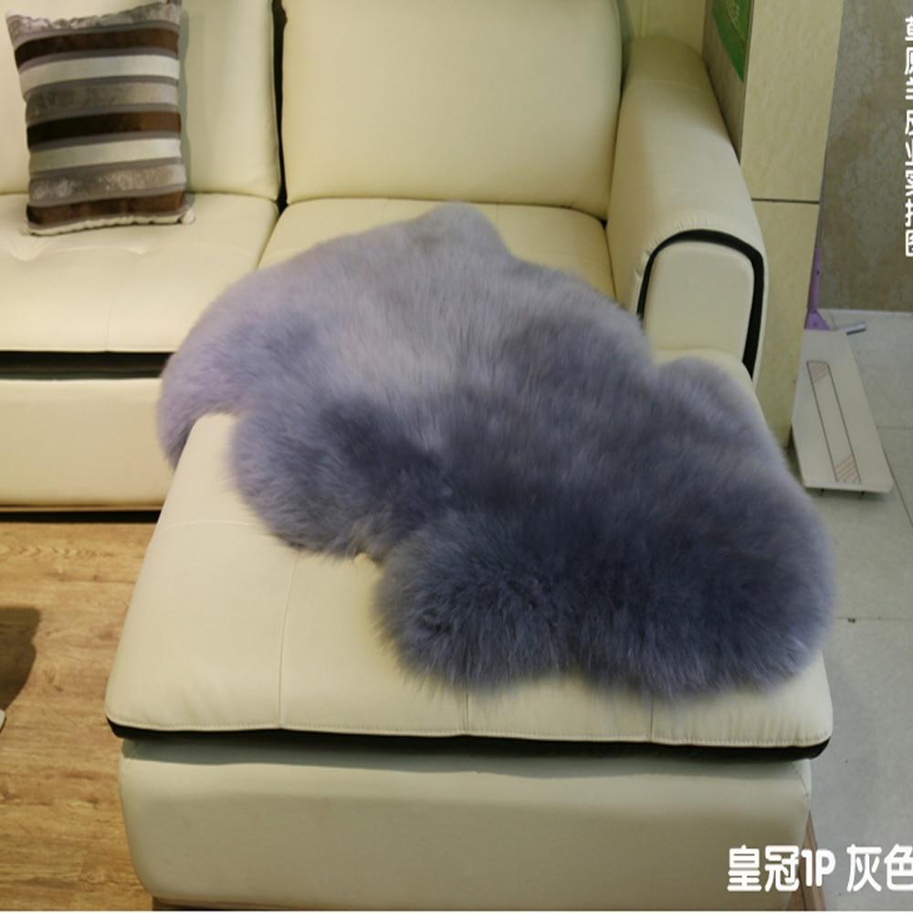 ④Oveja Tapetes Piel auténtica manta decorativa Mantas silla