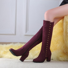 Casual Big size 34-48 Boots over the knee
