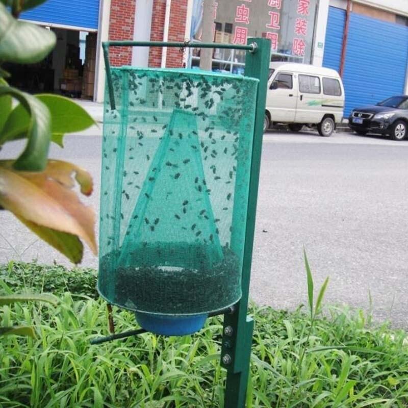 Image 2 - Health 1PCS Reusable Hanging Fly Catcher Killer Pest Control Flies Flytrap Zapper Cage Net Trap Garden Home Yard Supplies-in Traps from Home & Garden
