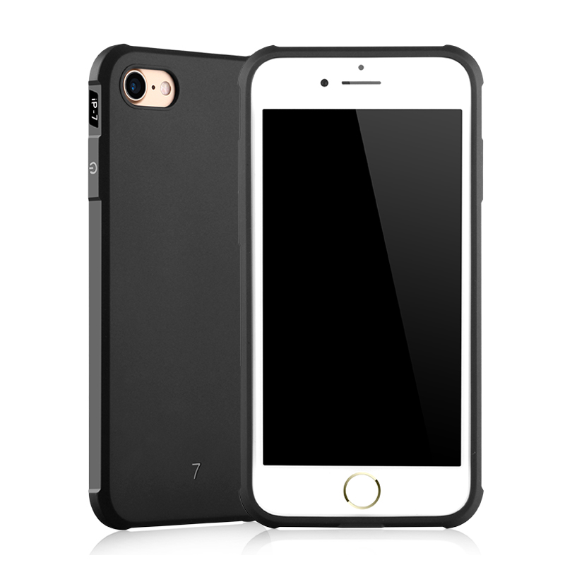 Luxury Phone Cases for iPhone 6 6S Plus TPU Case Frosted Shield Compact Anti knock Protective Cover Cases Soft Silicone Simple in Half wrapped Cases from Cellphones Telecommunications