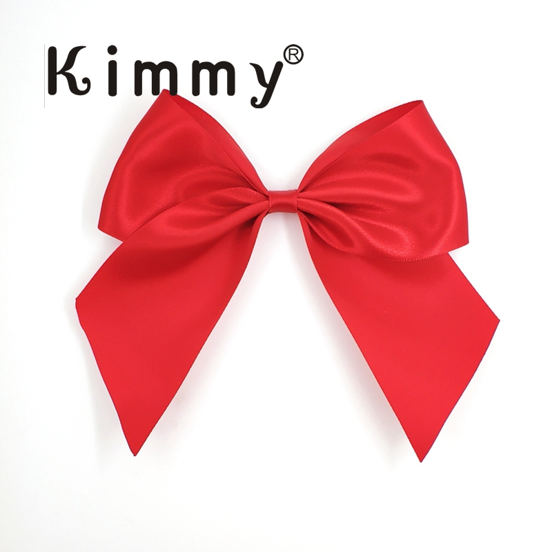 50pcs Free shipping Gergeous Red Big 13cm gift wrapping silk bow for Ties product wholesale Mix colors