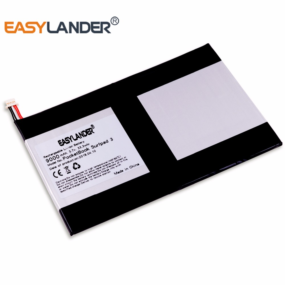5-wire plug 3.7 9000mAh Li-Polymer Battery For PocetBook Surfpad 3 Surf 3 10 E-Book Tablet PC Onda v919 air v919 3G air taipower onda 8 inch 9 inch tablet pc battery 3 7v 6000mah 3 wire 2 wire lithium battery