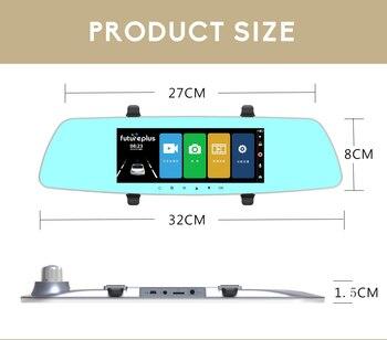 10 Moniteur Hdmi | 7 Pouces 1080 P Voiture DVR Double Lentille écran Tactile Rétroviseur Enregistreur Vidéo Dash Cam Parking Moniteur G Capteur Vision Nocturne Dashcam