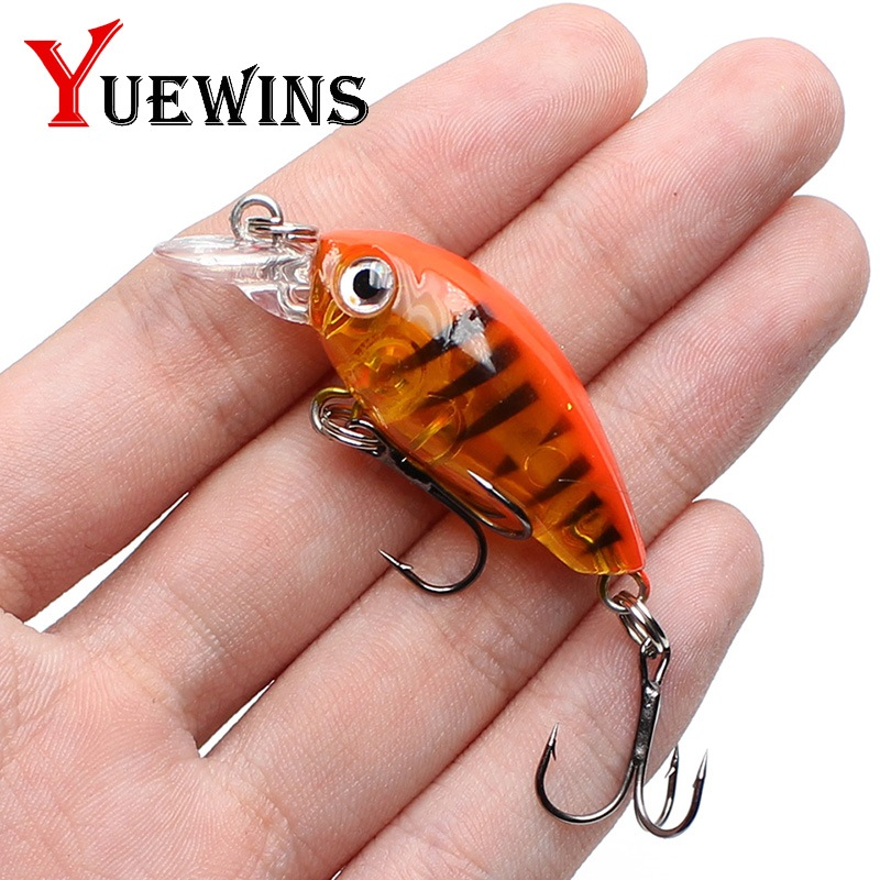 Yuewins Lifelike Floating Fishing Lure 4.5cm 4.1g Topwater Minnow Hard Bait Bass Fishing Wobblers Pesca Fish Crankbait QA333A цена