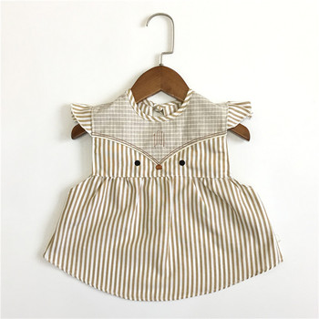 2018 sommer Baby Lätzchen Baumwolle Cartoon Fox Fütterung Kleidung Kinder Zeichnung Kleidung Prinzessin Kleid