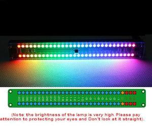 Image 1 - デュアル 30 レベルインジケータカラフルな音楽オーディオスペクトルインジケータステレオアンプ Vu メーター調整可能な光速度 AGC リズム