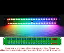 Dual 30 Level Indikator Bunten Musik Audio Spektrum Anzeige Stereo Verstärker VU Meter Einstellbar Licht Geschwindigkeit AGC Rhythmus