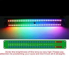 Çift 30 Seviye Göstergesi Renkli Müzik Ses Spektrum Göstergesi Stereo Amplifikatör VU Metre Ayarlanabilir Işık Hız AGC Ritim
