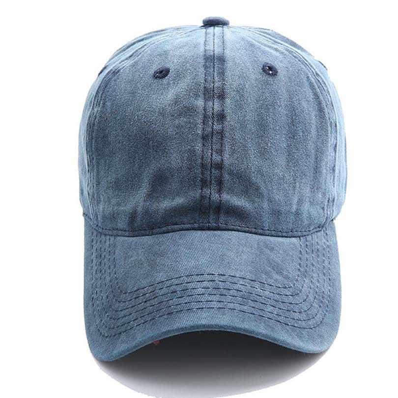 27412b9c8d Solid Color Women Men Demin Baseball Caps Male Casquette Women Snapback  Caps Bone Hats For Men