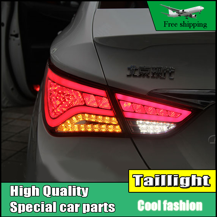Car Styling Tail Lamp For Hyundai Sonata 8th LED Taillights 2011-2014 Tail Light Rear Lamp DRL+Brake+Park+Signal Accessories accent verna solaris for hyundai led tail lamp 2011 2013 year red color yz