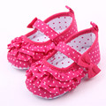 Newborn Infant Baby Shoes Girls Polka Dot Butterfly Bebe Shoes Sapatos