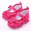 Niño recién nacido Bebé Zapatos Niñas Polka Dot Mariposa Zapatos Bebe Sapatos