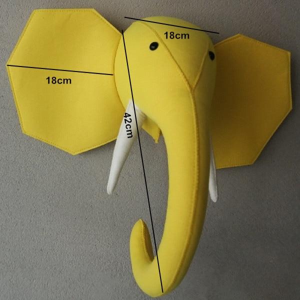 size yellow elephant