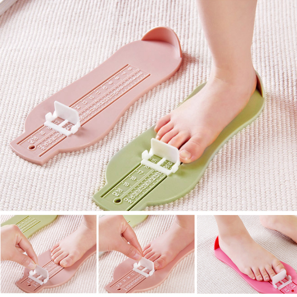 Baby Foot Measure Gauge Toys Plastic Shoes Size Measuring Nesting Toy Colorful Shoes Fittings Measure Toy for Toddler Infants 7 colors kid infant foot measure gauge shoes size measuring ruler tool available abs baby car adjustable range 0 20cm size