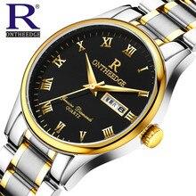 Relojes de lujo de los hombres Reloj de la marca de RON Digital de cuarzo de los hombres relojes de pulsera de buceo 100 m reloj masculino de Moda Casual Mejor Regalo