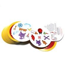 70 мм точечная карточная игра для детей, как это Английская версия, красные самые классические Обучающие Настольные игры
