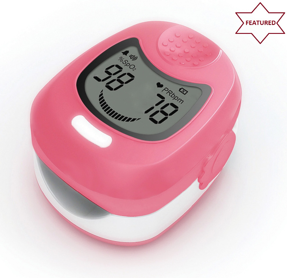 CONTEC CMS50QA Children Oximetro kids Pulsioximetro Pediatric Pulse Oximeter  Pink