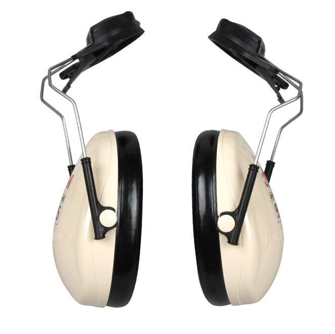 3M H6P3E Cap Mount Earmuffs Hearing Conservation H6P3E Ultra light with liquid foam filled earmuff cushions