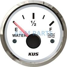 KUS Marine Boat Water Level Gauge Water Tank Level Gauge Indicator Empty Full Red/Yellow LED 12/24V 52mm 240-33 ohms