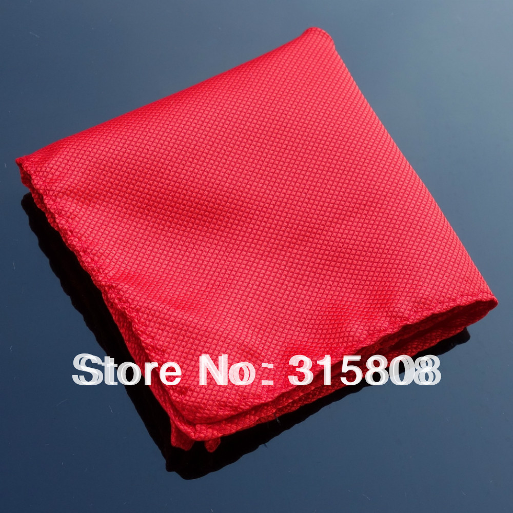 Ikepeibao Polyester Hankie Men's Fashion Pocket Square Mocket Red Hankerchief Wedding Party Hankerchief