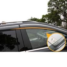Lsrtw2017 PVC Transparent Car Window Sun Rain Shield  Practical Strip for Trumpchi Gs8 Gs7 Gs4 Gs3 2015 2016 2017 2018 2019 2020