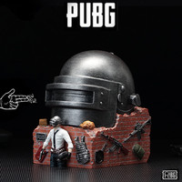 New Game PUBG PLAYERUNKNOWN'S BATTLEGROUNDS Cosplay Prop Mask Level 3 Helmet Storage Box Resin Ashtray Exquisite Decoration Gift