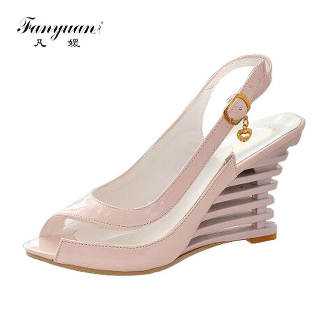 9855578199d 2018 Rome stylish Factory Price high quality fashion wedge heel sandals  dress casual shoes lady s sandals