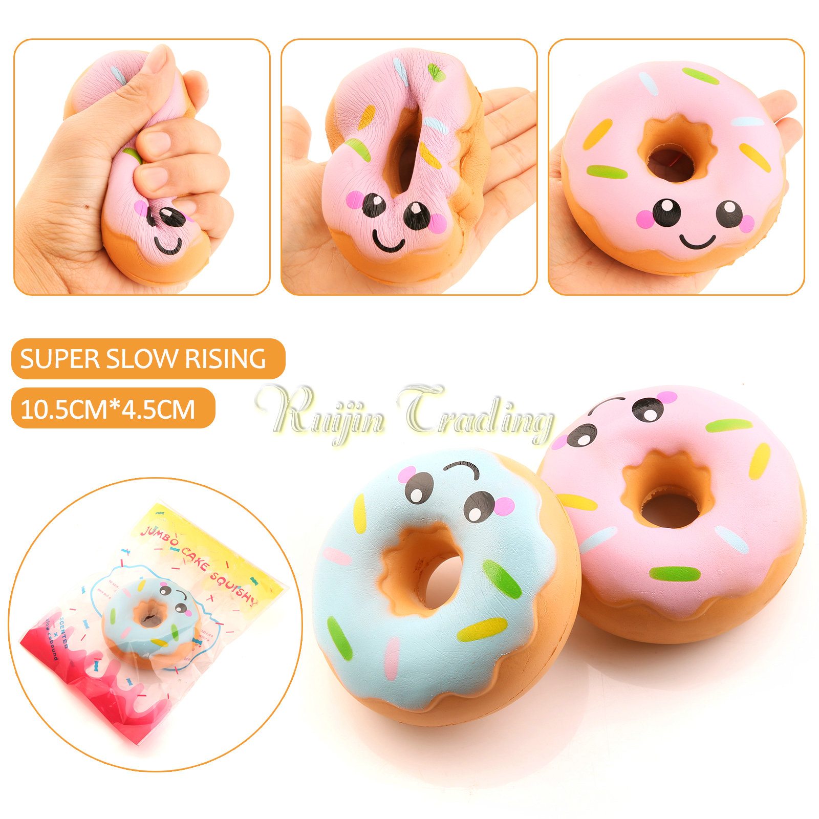 Wholesale kawaii soft squishy slow rising jumbo cartoon smiley face donut phone strap pendant - Jumbo mobel discount ...