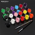 12 Colors 3D Nails Kit Paint Pallet Tool Acrylic Sets Fashion Nail Art Pigment Brush Pen Manicures Set